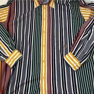 Vintage Tommy Hilfiger Striped Polo Dress Shirt XL
